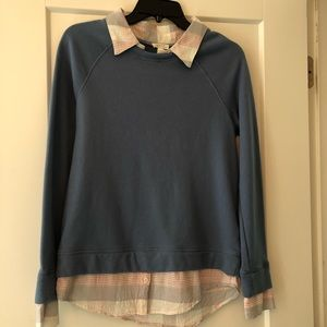 Joie layered look sweatshirt size xs